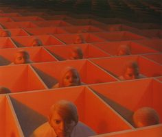 Landscape with Figures - George Tooker, 1920 - 2011