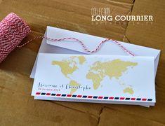 """Collection """"Long Courrier"""", un faire-part billet d'avion moderne et différent ! – La Crafterie"""