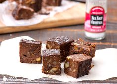 Easy No Bake Protein Fudge Recipe -- Chocolate fudge recipe with avocado, nuts