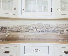1000 images about wallpaper backsplash on pinterest for Vinyl wallpaper backsplash