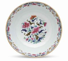 A large famille rose punchbowl, Early Qianlong period (1736-1795)