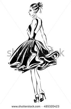 Basketball cartoon images black and white dress