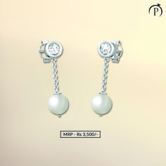 Pearl gives happiness & comfortable life. Order now and get it delivered at your doorstep from plushvie. Shop Jewellery on EMI and pay at ease . Pearl Jewelry, Diamond Jewelry, Silver Jewelry, Fine Jewelry, Pearl Earrings, Jewelry Shop, Jewellery, Silver Pearls, Belly Button Rings