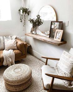 Cheap Home Decor, Diy Home Decor, Natural Home Decor, Natural Interior, Wood Home Decor, Decor Crafts, Boho Living Room, Living Room Wall Decor, Decor Room