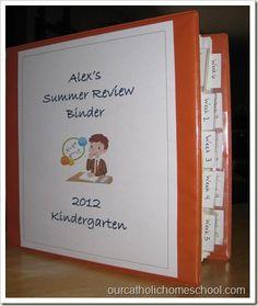 homeschool review binder