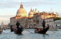 Venice, Italy and the gondolas