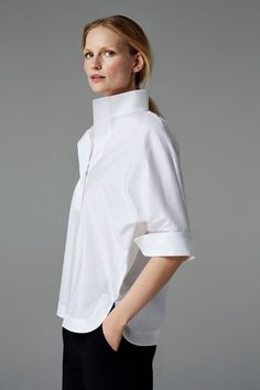 CH Carolina Herrera Woman - White Shirt Collection - Fall 2016 - Luxe Fashion New Trends - Fashion for JoJo Classic White Shirt, Crisp White Shirt, Blusas Carolina Herrera, Carolina Herrera Dresses, Style Board, Look Street Style, Street Styles, Mode Top, Moda Chic