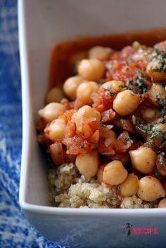 Pois chiches et quinoa à la salsa   Quinoa and chickpeas with salsa - Miss-Recipe.com