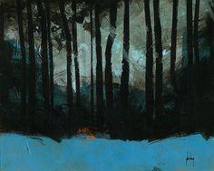 Paul Bailey All hallows wood /acrylic on board/10 x 8 inches/2014