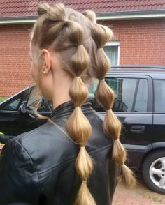 46 Unique Ideas to Style your Bubble Braids Style Style - Hair, Nail and Make Up Ideas - Long Thin Hair, Braids For Long Hair, Summer Braids, Summer Hair, Summer Fun, Pretty Hairstyles, Braided Hairstyles, Kids Hairstyle, Hairstyle Short