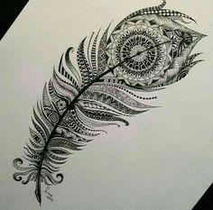 Mandala feather Mais