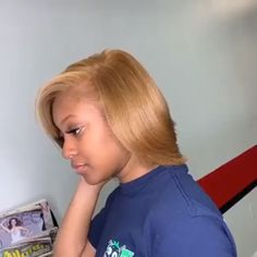 Honey Blonde Frontal Wig Virgin Human Hair Wig Straight - Honey Blonde Bob wig👇 Lets take a close camera to feel This color Magical💕 Color beginner friendly and not only for Summer , All season suitable💯 More details Just Comment below👏 - Pressed Natural Hair, Blonde Natural Hair, Blonde Hair Black Girls, Blonde Bob Wig, Honey Blonde Hair, Hair Color For Black Hair, Blonde Braids, Ash Blonde, Honey Brown Hair