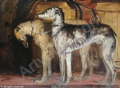 Edwin, Henry. Study of two deer hounds
