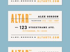 Altr Business Card by Alana Louise