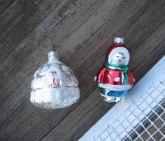 Collectible North Pole Ornaments  Vintage by LittleVintageStories