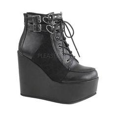 Women's Demonia Poison 105 Ankle Boot Vegan /Velvet
