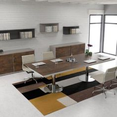 Conference Meeting, Conference Table, Meeting Table, Wood Desk, Office Spaces, Tables, Mesas, Wooden Desk, Offices