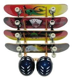 Skateboard Rack Holds (4) Angle