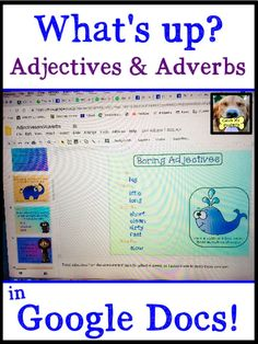 Teach adjectives and adverbs for 2nd grade and 3rd grade kids. Learning grammar and parts of speech in Language arts is great fun for the student of writing. Here is a simple to follow lesson plan for teaching Common Cores English in the classroom. Teachers, find ideas for activities for grades second and third or home school with writing prompt. Teachers Pay Teachers products in Google slides make it easy to share docs with your students. #TpT #Grammar #writing #Google (Level 2,3)