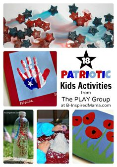 18 Patriotic Activities for Kids from The PLAY Group at B-InspiredMama.com  #kids #memorialday #4thofjuly #kbn