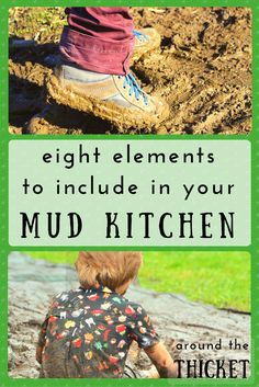 I can't wait to create a mud kitchen for my boys. Here's what I'm planning to include.