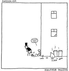 Schwarzer Humor von Hugleikur Dagsson