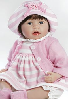 Lifelike Vinyl Toddler Doll - Penelope & Willow, 21 inch in GentleTouch Vinyl with Weighted Body