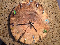 The fishing lure clock I made