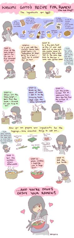 Real ramen noodles recipe - illustrated!