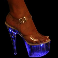 Stylish Womens Led Light Platform Chic High Heels Stage Shoes Pumps All Us Size Sexy High Heels, Beautiful High Heels, Platform High Heels, High Heels Stilettos, Crazy Shoes, Me Too Shoes, High Heels Plateau, Stripper Heels, Light Up Shoes