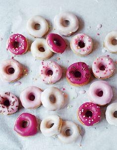 Glazed mini ring doughnuts