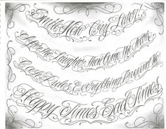 Pictures Of Tattoo Design Chicano Sleeves Tattoo Lettering Alphabet, Tattoo Lettering Styles, Chicano Lettering, Calligraphy Tattoo, Graffiti Lettering, Gemini Tattoo Designs, Name Tattoo Designs, Tattoo Design Drawings, Chicanas Tattoo