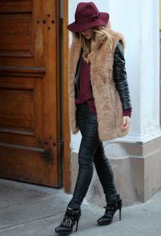 Beautiful Winter Look Fur Vest for Women