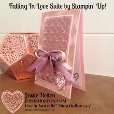 Live in Australia? Shop with me online 24/7! #FallingInLove #LiftMeUp #JessieHolton #StampinUp #CrazyCrafters