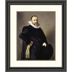 Global Gallery 'Portrait of a Gentleman' by Frans Hals Framed Painting Print Size: