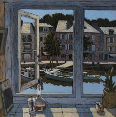 View from a Kitchen, Brittany By Mike Hall Medium: Acrylic Dimensions: 39 x 39 cms