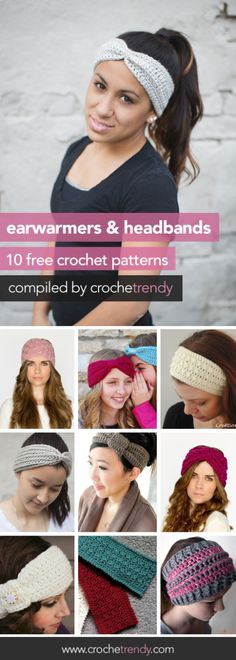 10 Free Earwarmer & Headband Patterns