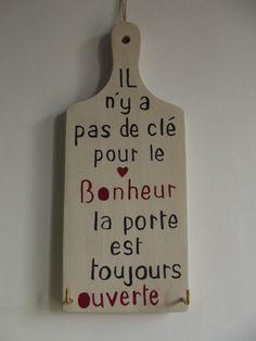 plaque en bois message- accroche clés : Décorations murales par ptitecrea