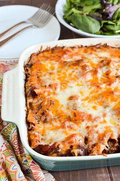 Syn Free Sloppy Joe Pasta Bake - gluten free, Slimming World and Weight Watchers friendly