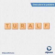 ¿Ustedes saben qué palabra es la que se esconde en estas letras? ¡Es un producto con sabor como nunca lo habías probado! #AlpuraMeGusta