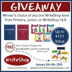 WriteShop Giveaway - Winner's Choice of Prize! Ends 1/9/15!
