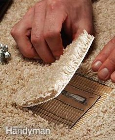 How to patch a damaged spot in the carpet