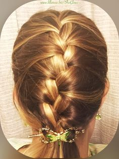 French braid with Flitter flexi clip.