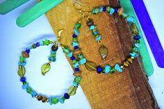 Colourfull Bohemian Beaded Hoop Earrings by EarBlingByMaggie