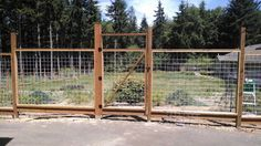 6 ft. welded wire fence with walk gate, under construction