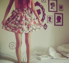 Skirt: floral jewels outfits cute roses pink girly girly outfit hipster pretty vintage