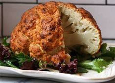 Spicy Whole Roasted Cauliflower Recipes PureWow Vegetable Recipes, Vegetarian Recipes, Cooking Recipes, Healthy Recipes, Spinach Recipes, Vegetarian Tapas, Vegetarian Dinners, What's Cooking, Kitchen Recipes