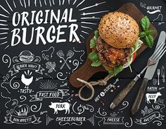 """Original Burger"" by Marchie."