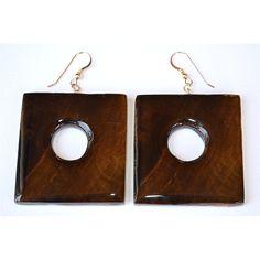 square circle earrings