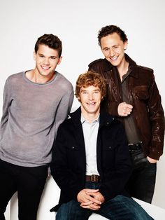 Tom Hiddleston, Benedict Cumberbatch, and Jeremy Irvine